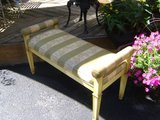 vintage striped bench in St. Charles, Illinois