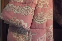 Bedspread Dusty Pink/beigh Paisley new dbl comforter in Tacoma, Washington