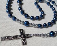 Rosary Dallas Cowboys New Blue Color This Year in Kingwood, Texas