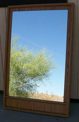 Large Canada made Wood Wall Hanging Mirror in Yucca Valley, California