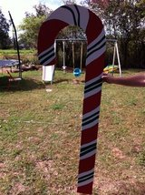large candy cane yard decor in Alexandria, Louisiana